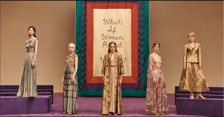 A Dior kollekcióját visszafogott színek jellemezték