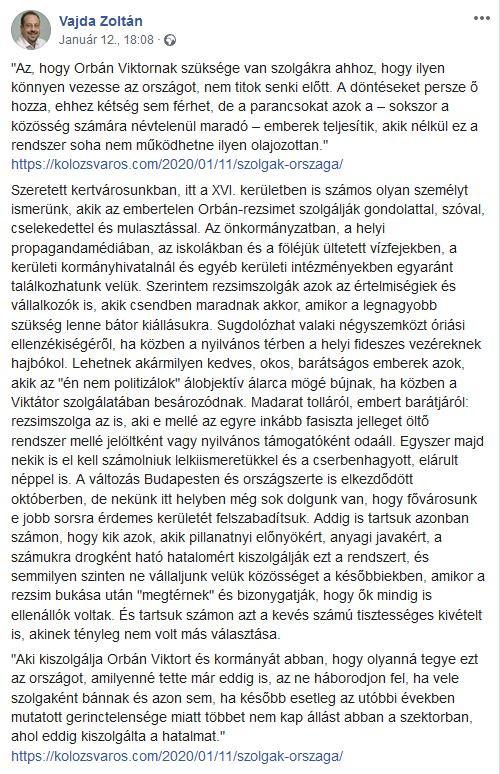 Vajda Zoltán példátlan írása