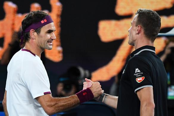 Fucsovics szettet nyert, de végül vereséget szenvedett Federer ellen