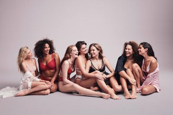 Hoppá! Teltkarcsú nők a fehérneműcég kampányában