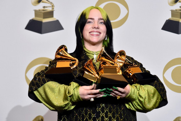 Billie Eilish tarolt az idei Grammyn