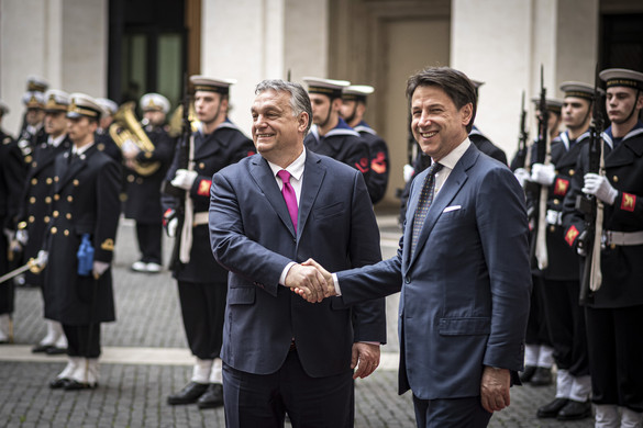 Rómában tárgyalt Orbán Viktor