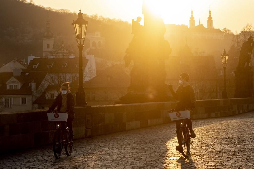 Kerékpározás Prágában