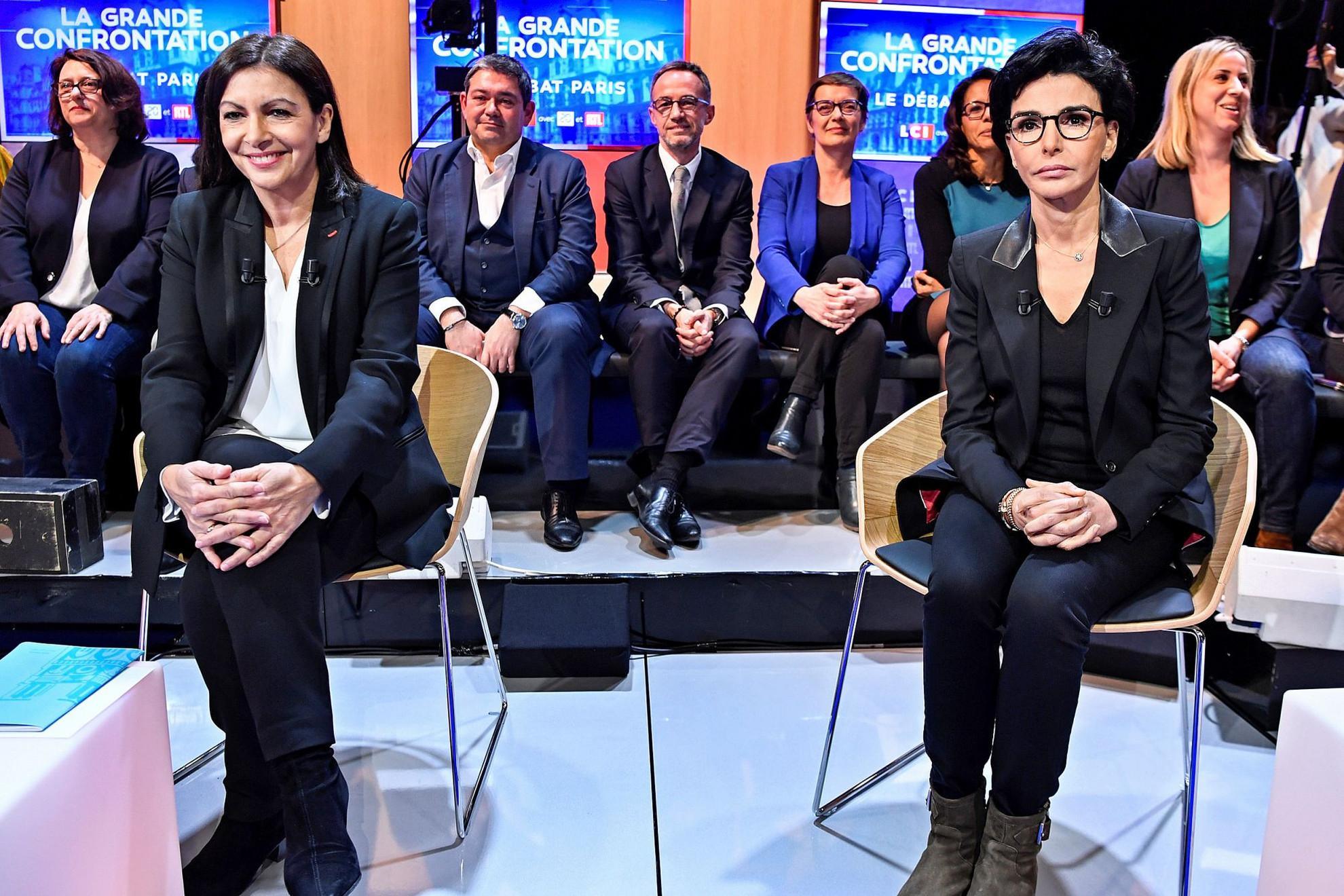 A szocialista főpolgármester, Anna Hidalgo és jobboldali kihívója, Rachida Dati