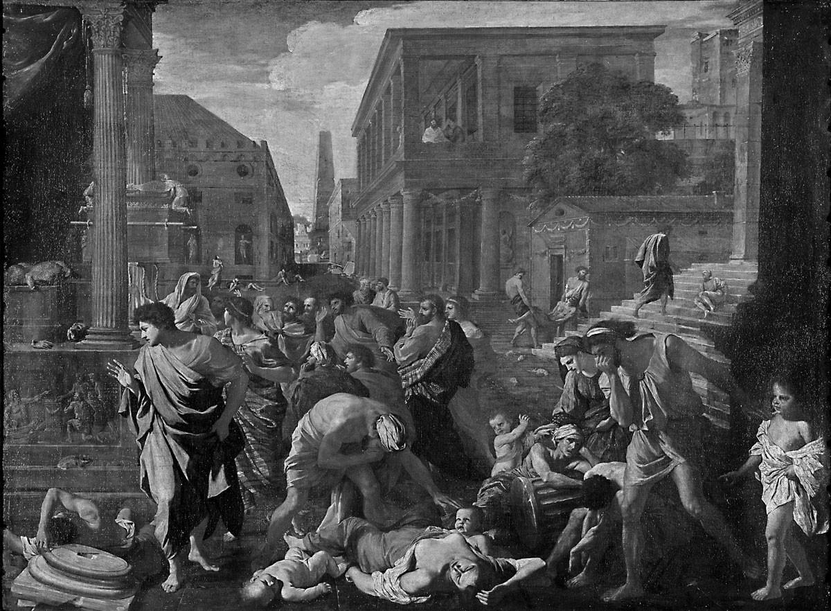 Nicolas Poussin: Az asdódi pestis. A pestis sokáig az emberiséggel maradt, országos járványok ritkán alakultak ki, de lokális megbetegedések minden évtizedben fölütötték a fejüket, egészen a 18. század végéig