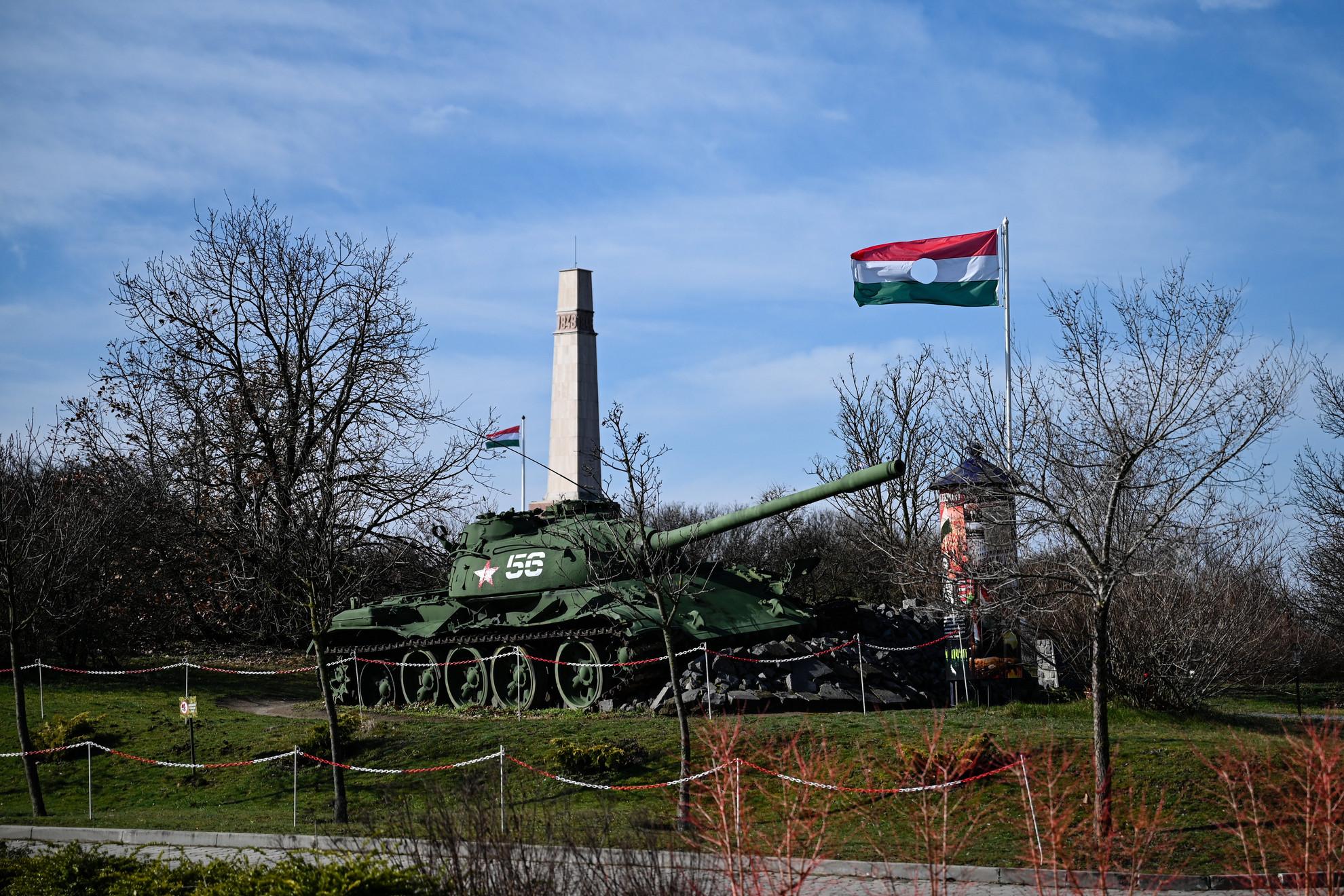 56-os harckocsi a pákozdi Katonai Emlékparkban, 2020. március 7-én