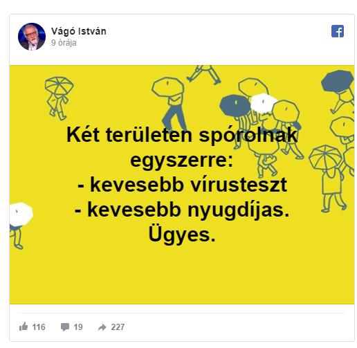 """Vágó István, az egykori tévés """"kvízmester"""" a Facebookon viccelődöt a nyugdíjasok halálával"""