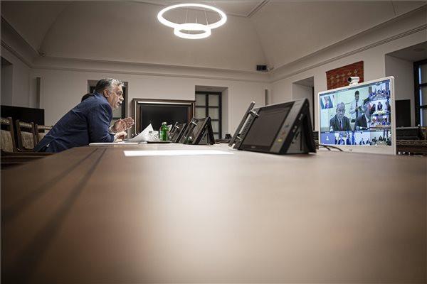 Nemzetközi videokonferencián vett részt Orbán Viktor