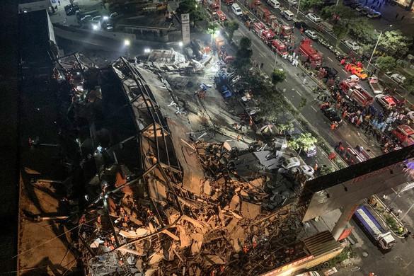 Többen fogságba estek egy összeomlott kínai karanténhotelben
