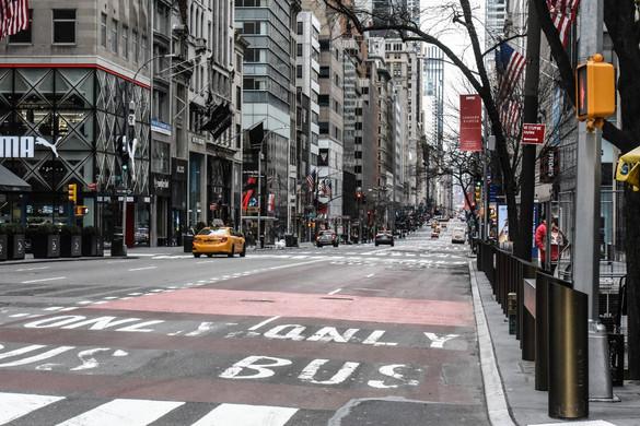 New Yorkban is megállt az élet