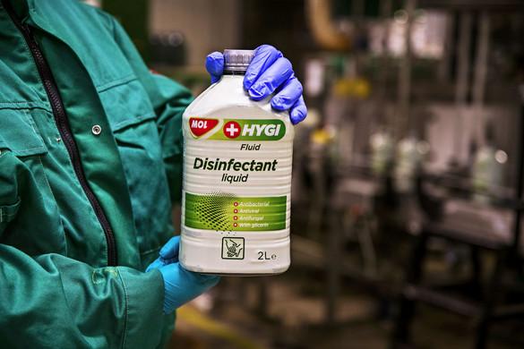 Száztízezer liter fertőtlenítőszert szállított ki a Mol