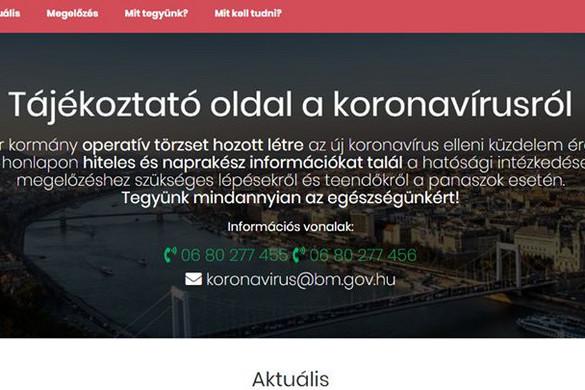 Terheléses támadás miatt állt le a koronavirus.gov.hu