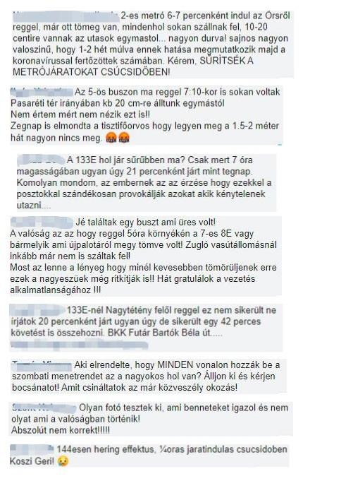 Tele a kommentfal a felháborodott kommentekkel (a képet az Origo képernyőfotóinak összeállításából készítettük)