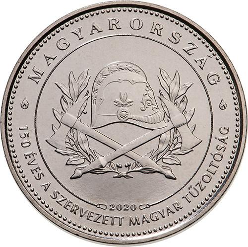 50 Ft-os forgalmi érme emlékváltozat a 150 éves a szervezett magyar tűzoltóság tiszteletére