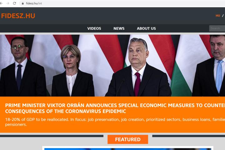 Elindult a Fidesz angol nyelvű honlapja