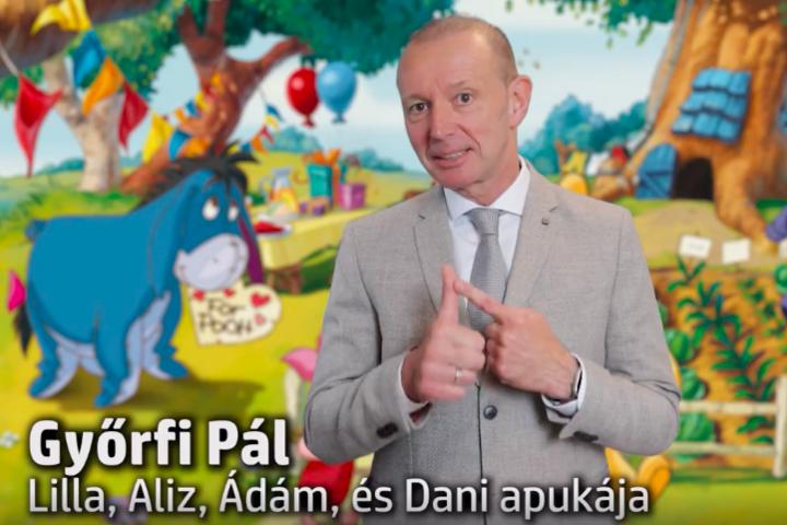 Ezt üzeni a gyerekeknek Győrfi Pál