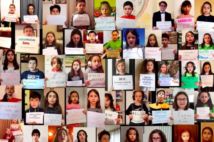 Hétszáz gyermek virtuális kórusa énekeli a Nessun dormát