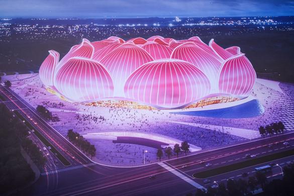 A világ legnagyobb futballstadionja épül Kínában