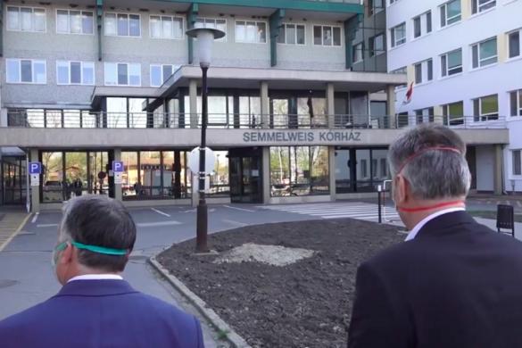 Európa legmodernebb mobil járványkórházát kereste fel Orbán Viktor