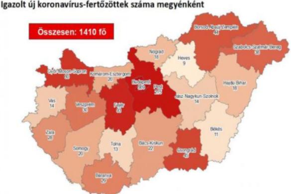 Újabb száz fertőzött van Magyarországon