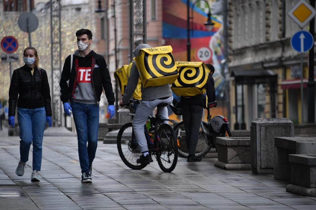 Járókelők Moszkvában