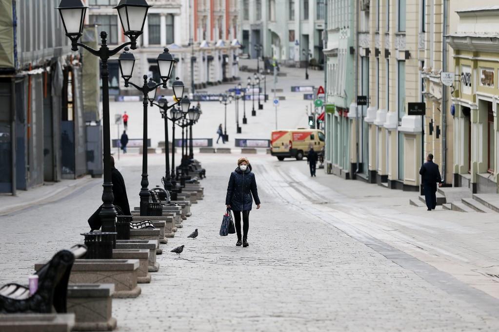 Kiürült utca Oroszországban