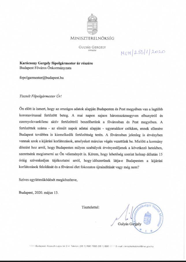 A miniszter levélben fordult az önkormányzati vezetőkhöz