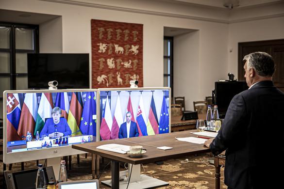Angela Merkellel tárgyaltak a visegrádi országok vezetői