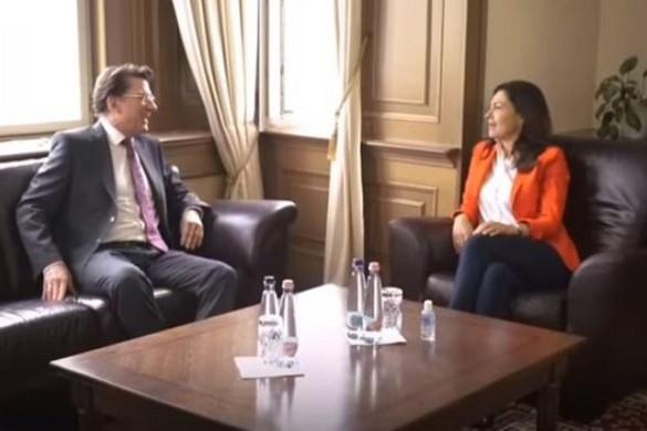 A brit nagykövettel találkozott Varga Judit