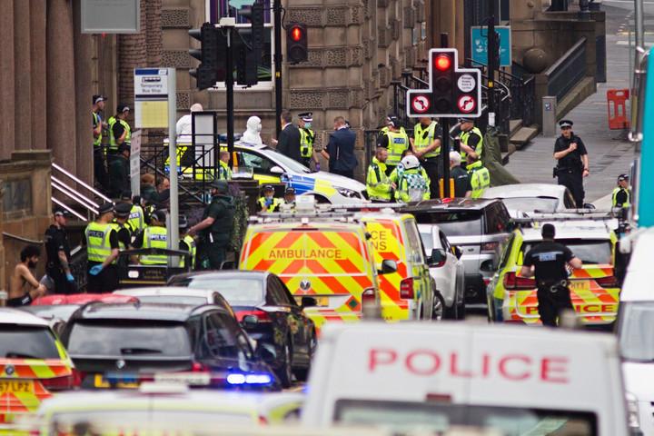 Késeléses támadás Glasgow belvárosában
