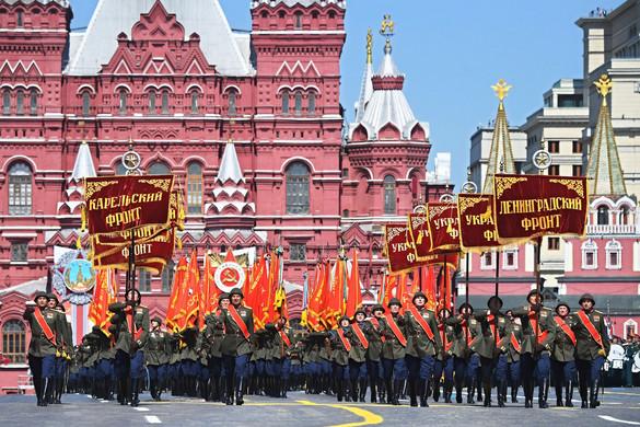 A járvány ellenére megtartották a moszkvai díszszemlét