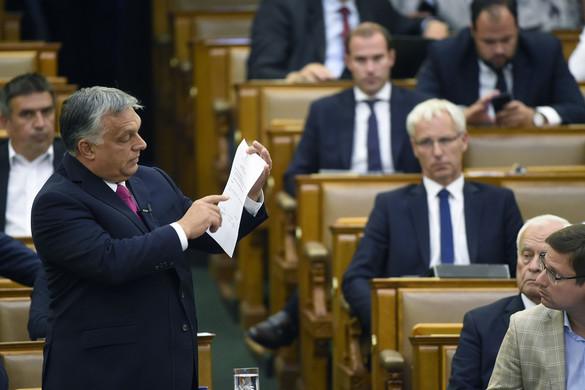 Orbán Viktor leiskolázta az ellenzéket az Országgyűlésben