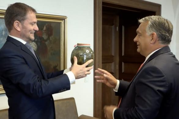 Bodzaszörpöt kapott uborkájáért Orbán Viktor