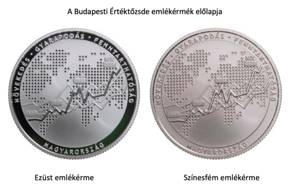 Emlékérmea Budapesti Értéktőzsde újraalapításának harmincadik évfordulójára