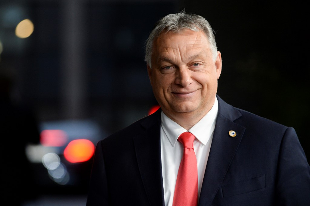 Orbán Viktor miniszterelnök az EU-csúcson