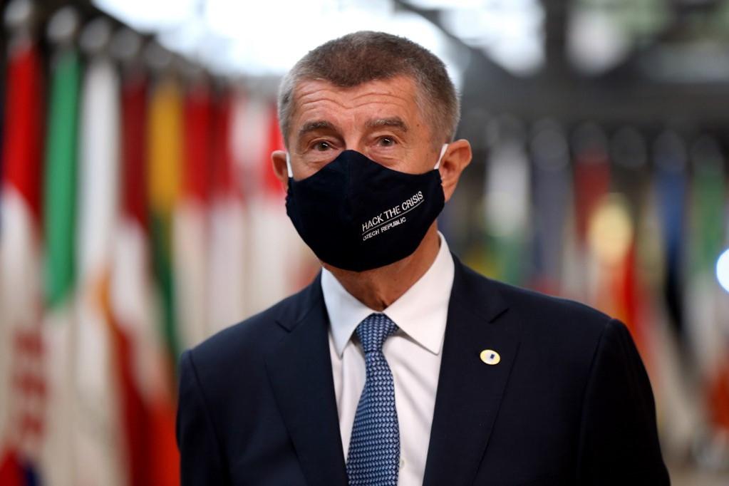 Andrej Babis cseh miniszterelnök a brüsszeli EU-csúcson