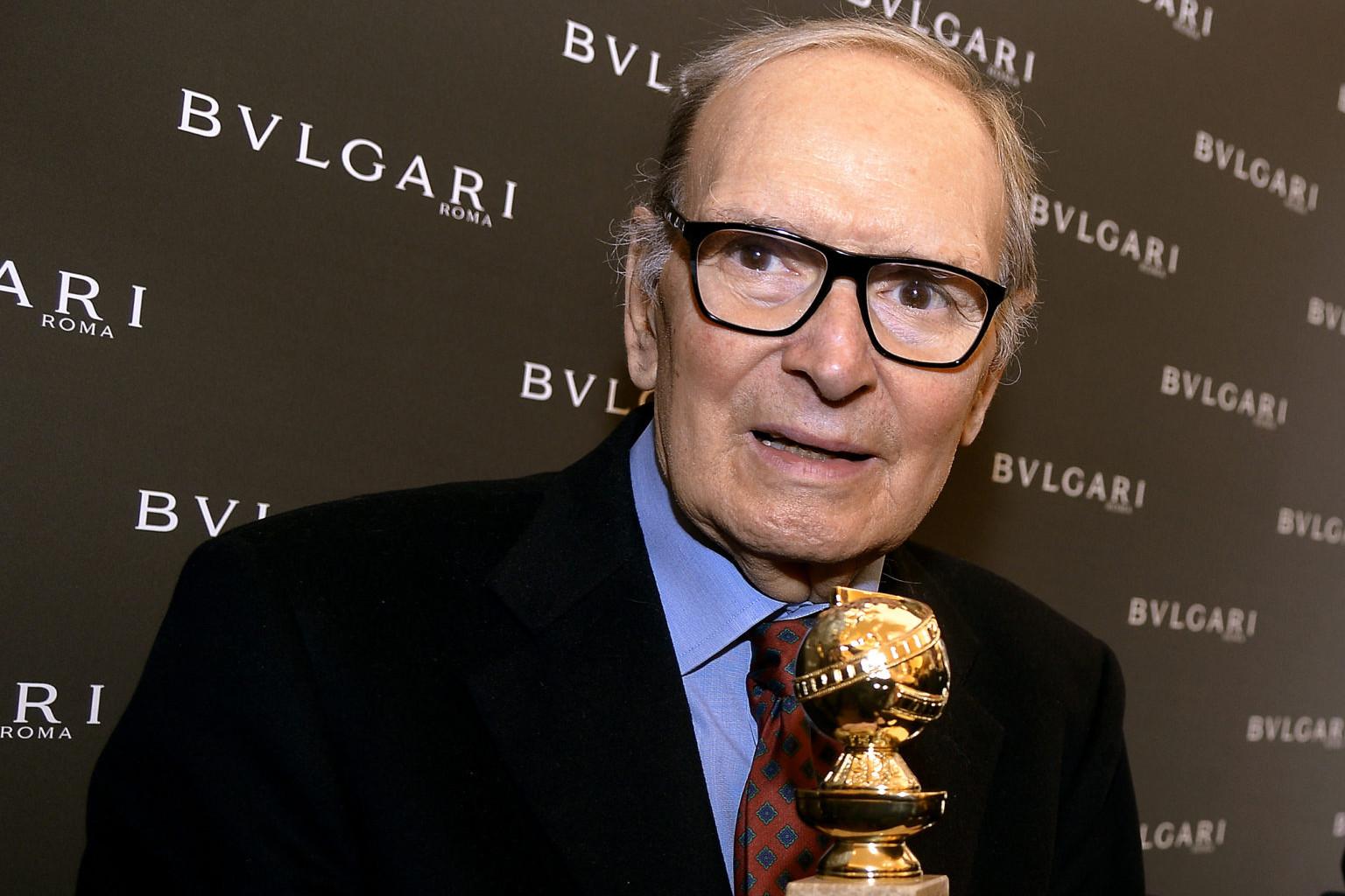Morricone a Golden Globe-díj átadásán 2016-ban