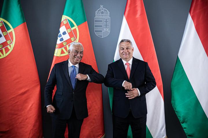 Orbán Viktor a portugál miniszterelnököt fogadta