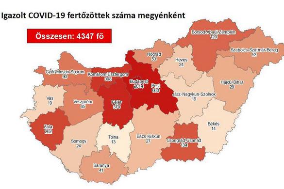 Nyolccal emelkedett a fertőzöttek száma hazánkban