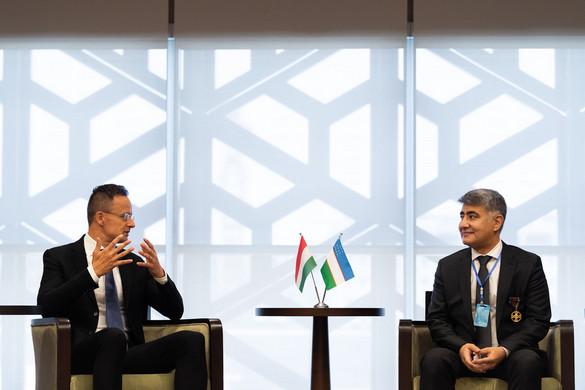 Szijjártó: A magyar vállalatoknak érdemes lesz megjelenniük Üzbegisztánban
