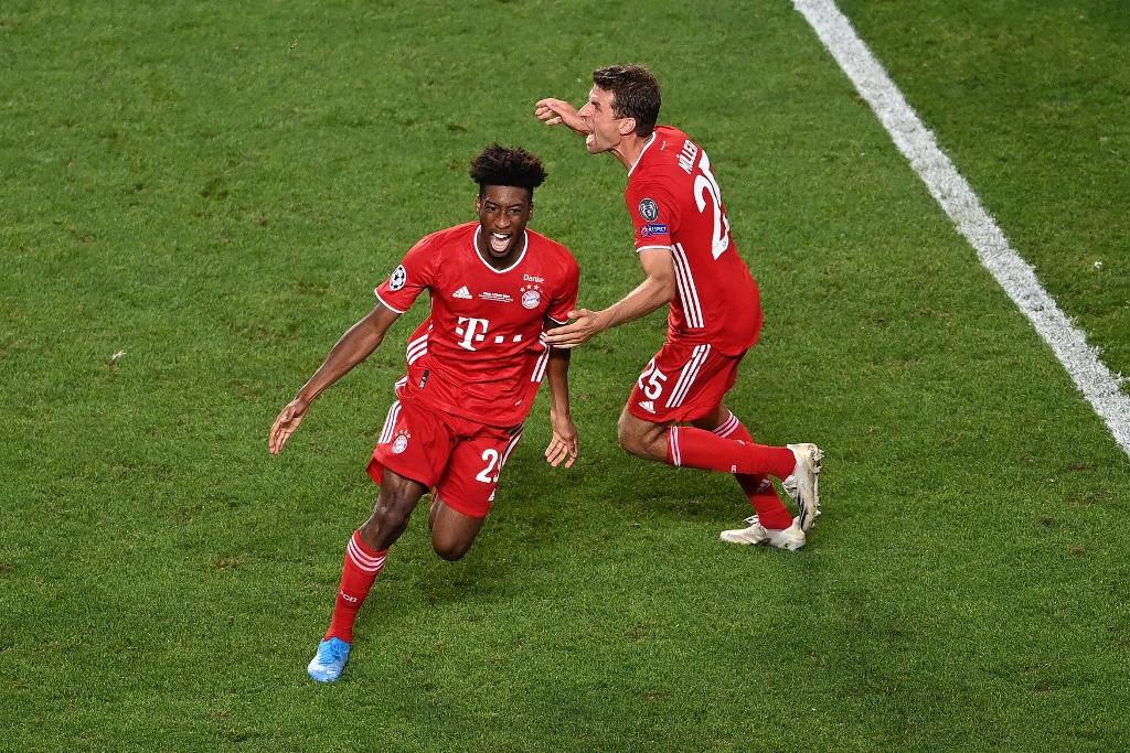 Kingsley Coman (balra) szerezte a Bayern győztes találatát