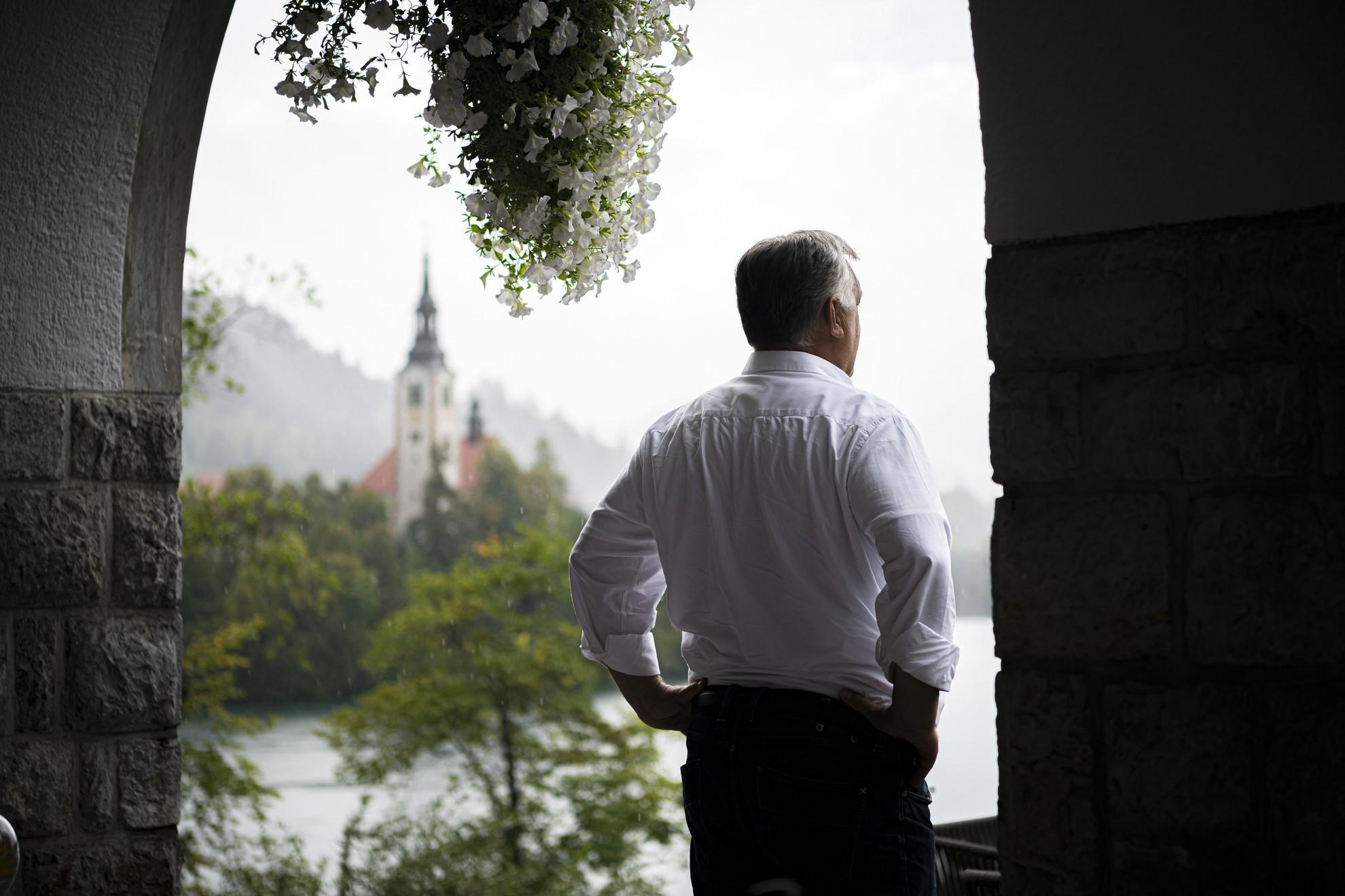 Orbán Viktor miniszterelnök a szlovéniai Bledben