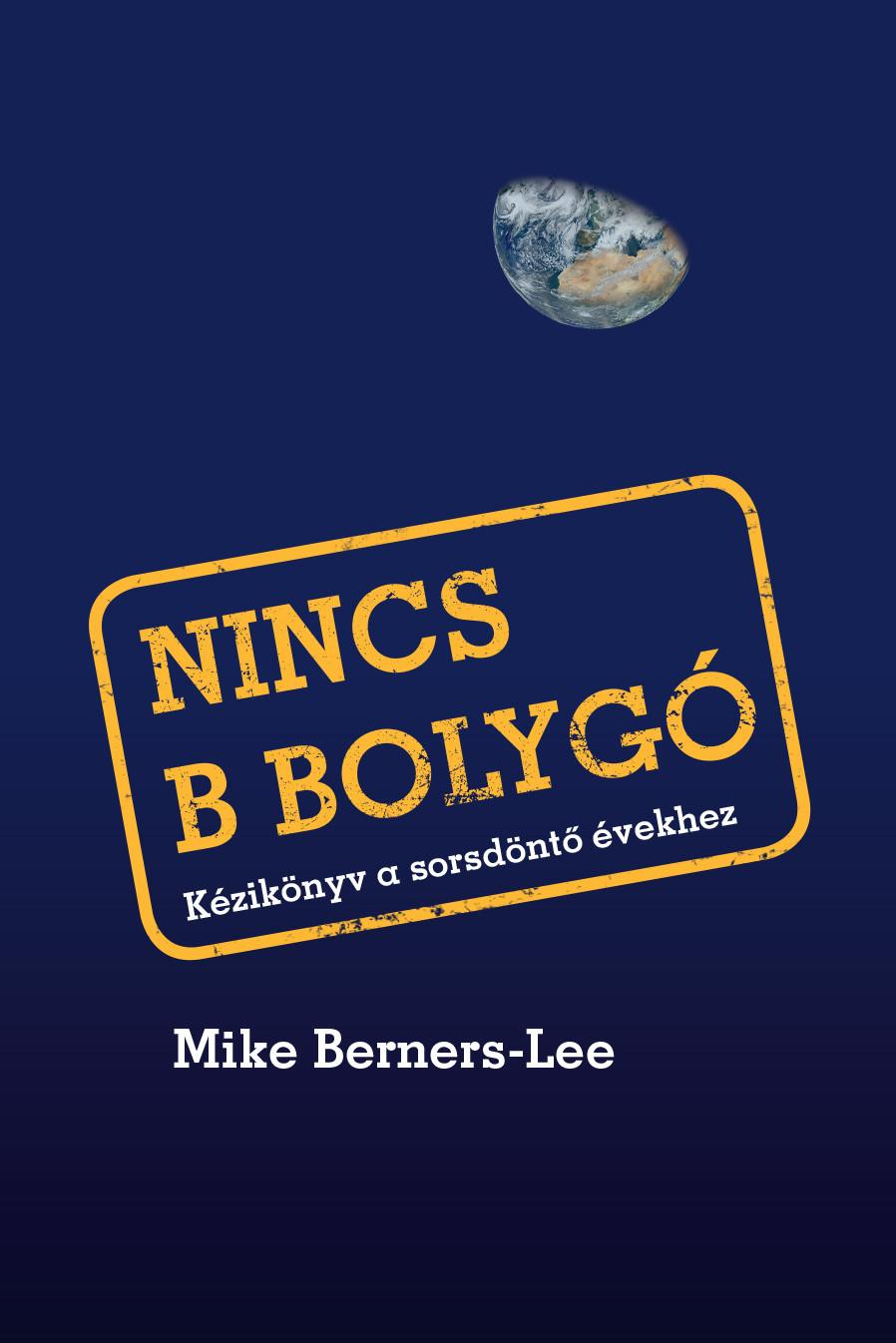 A Nincs B bolygó c. könyv borítója