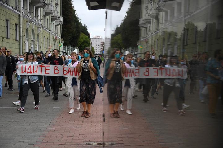 Ismét rohamrendőrök oszlattak tüntetőket Minszkben