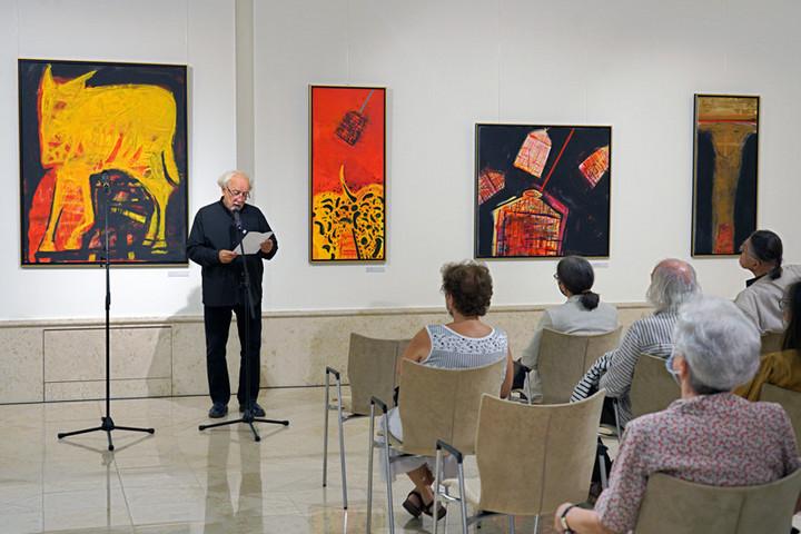 Szimbólumok, metaforák és allegóriák világa: Püspöky István emlékkiállítása a Vigadóban