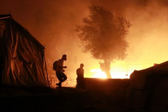 Megsemmisült a Moria migránstábor Leszbosz szigetén
