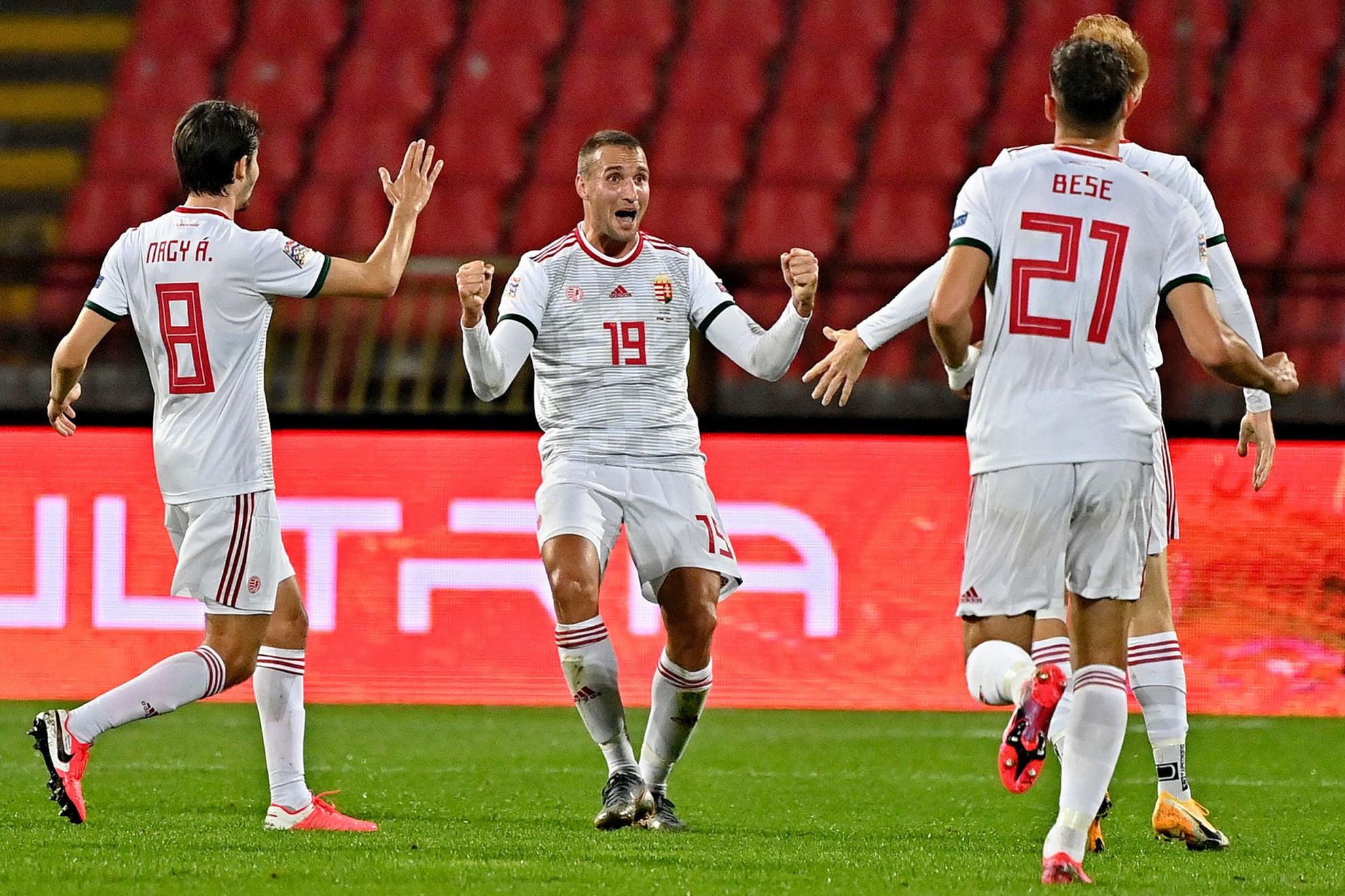 Így ünnepelte a 31 éves Könyves Norbert első válogatottbeli gólját