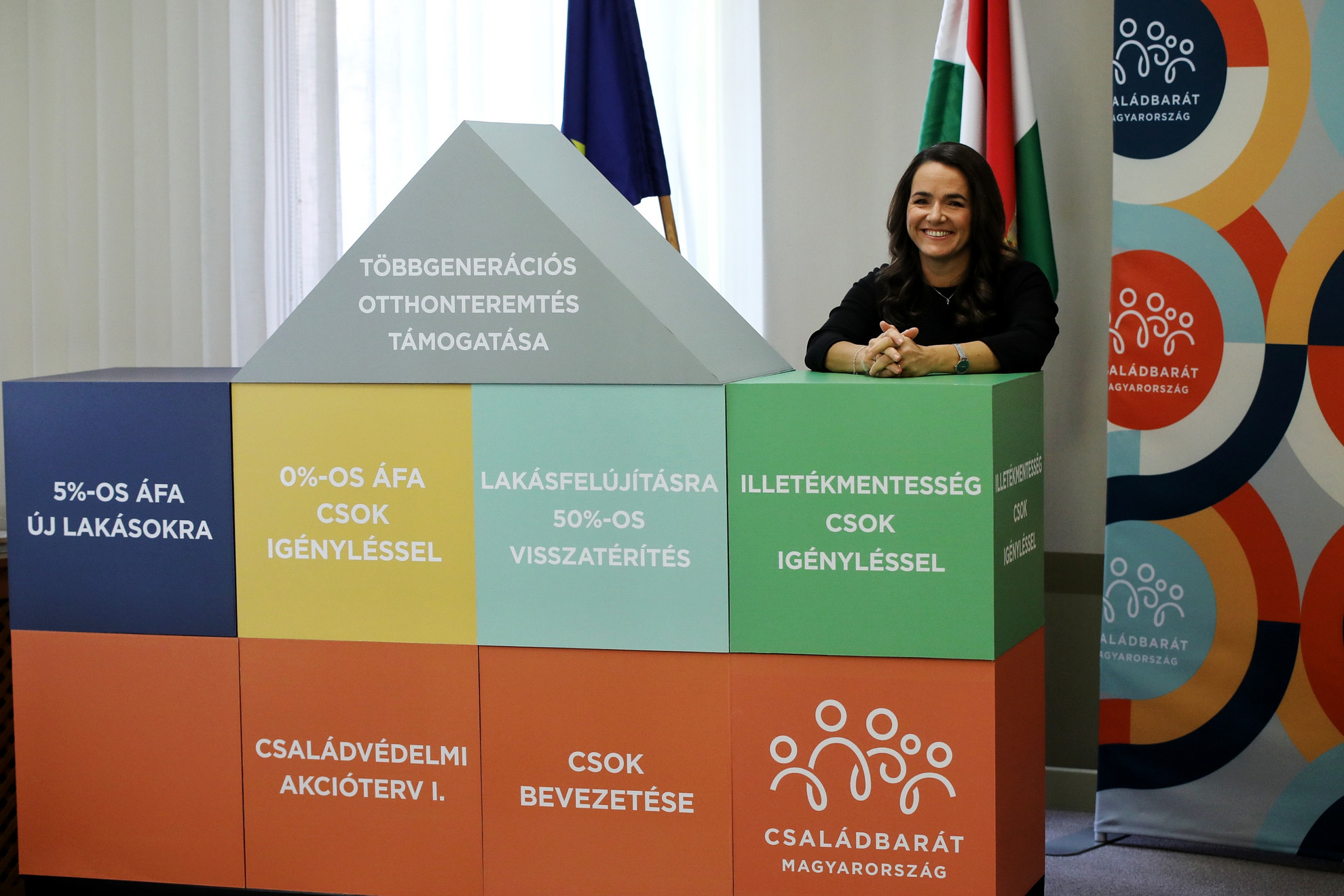 Novák Katalin hangsúlyozta: Magyarország legnagyobb otthonteremtési programjának célja, hogy mindenki saját tulajdonú otthonban élhessen