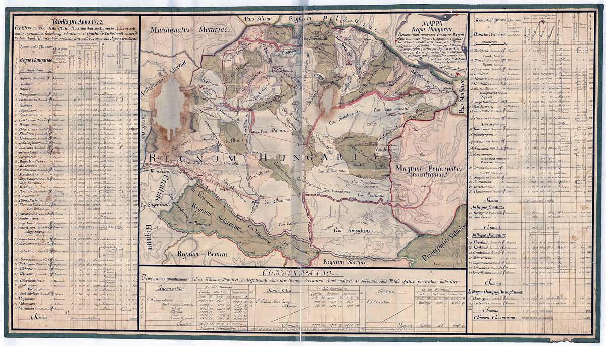 A Földabrosz kuriózumai közt böngészhetjük például hazánk sókereskedelmi térképét 1773-ból