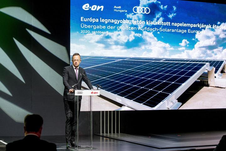 Szijjártó: Magyarország élen jár a klímaváltozás elleni küzdelemben